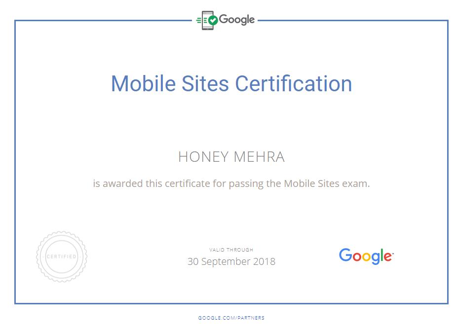 Google Certificates