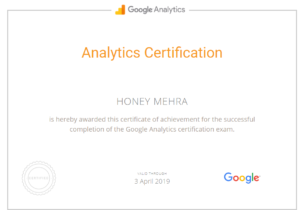 Google Analytics Certificates